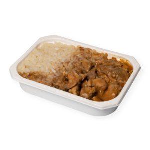 Comida casera - Pollo al curry con arroz