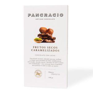 Dulces y chocolates - Pancracio tableta de frutos secos caramelizados